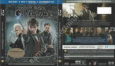 Fantastic Beasts: The Crimes of Grindelwald (SLIPCOVER ONLY for Blu-ray)