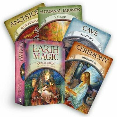 NEW Earth Magic Oracle Cards By Steven D. Farmer Card or Card Deck Free Shipping