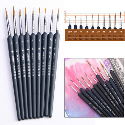 Artist Paint Brush Set Fine Detail Art Painting Crafts Hobby Painting Brushes