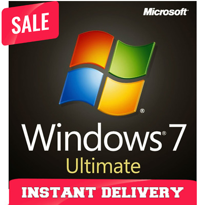 Windows 7 Ultimate 32/64 Key Original License Activation Key - Instant Delivery