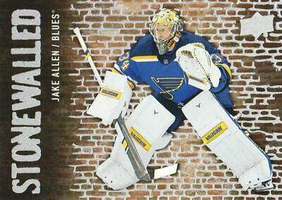 2018-19 Upper Deck Stonewalled #SW-21 Jake Allen St. Louis Blues