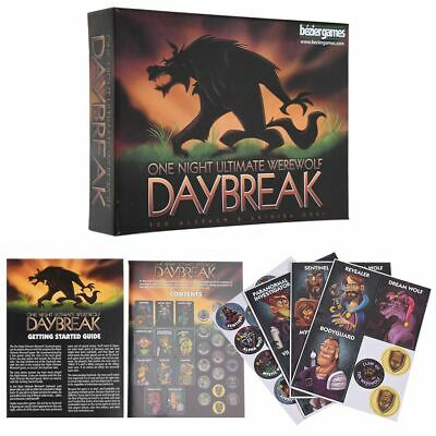Daybreak One Night Ultimate Werewolf Family Party Game Bezier Games Halloween