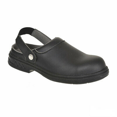 Clogs Shoes UK 10.5 Hospitality Kitchen Safety Work Steeltoe Portwest Cook Chef