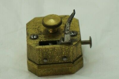 Antique Scarificator Blood Letting Lancet Brass Wf Ford Medical Device 12 Blade