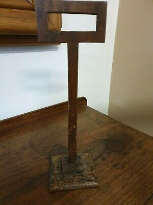 antique wood shop display HAT STAND