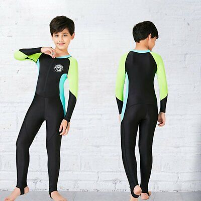 S097-S099 New Kids Diving Suit Boys Sunscreen Swimming Suit Long Sleeve IG