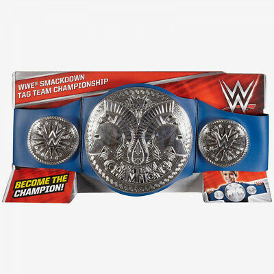 WWE SMACKDOWN TAG TEAM CHAMPIONSHIP (BLUE STRAP) BELT 100% Brand New