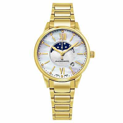 Alexander Women's Swiss Made Moonphase 'Vassilis' Gold Tone