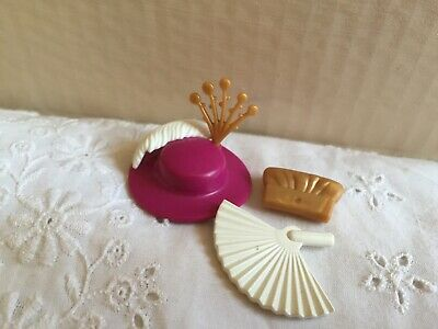 5112 Victorian Hat + Feathers + Fan + Purse - Playmobil New Spare Parts