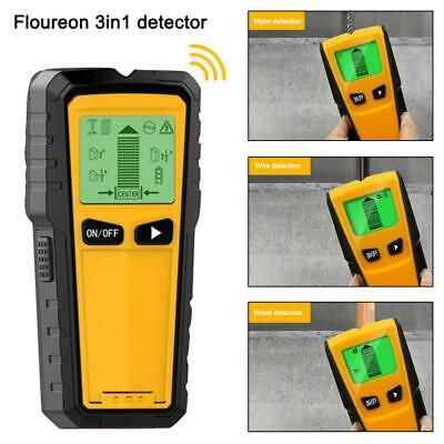 3in 1 Wall Center Finder Stud Wood Scanner Metal AC Live Wire Detector LCD 76MM