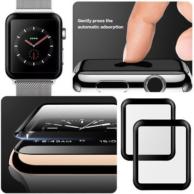 2PCS For Apple Watch Series 4 Tempered Glass Screen Protector Full Edge 40/44mmE