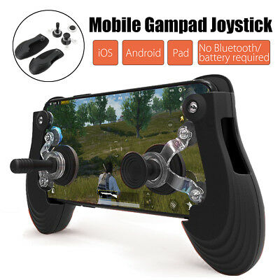 Mobile Phone Game Controller Gamepad Joystick Handle For PUBG iOS Android Pad AU