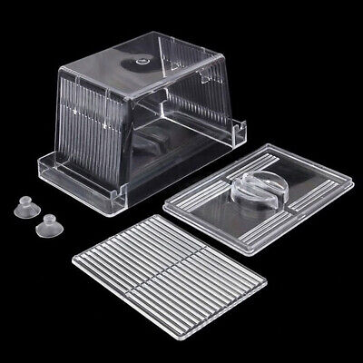 Acrylic Fish Tank Breeding Isolation Box Aquarium Hatchery Incubator Holder hv2n