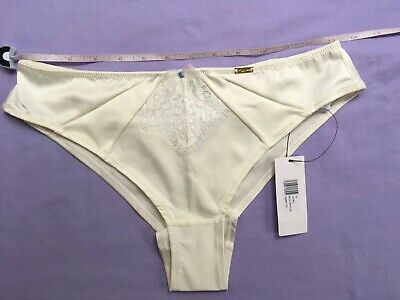 THONG UK SIZE 12 SILKY IVORY SATIN LUXURY ULTIMO LADIES KNICKERS BNWT