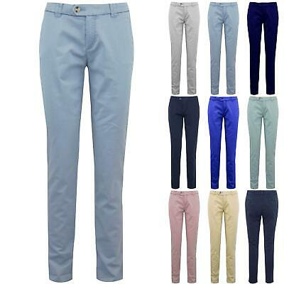 Womens Ladies CHINO Skinny Fit Slim Fitted Pocket Casual Stretchy Pants Trouser