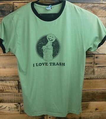 0259e87e9 SESAME STREET OSCAR The Grouch Talk Some Trash TAN Adult Shirt ...