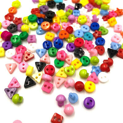 100pcs Mini Buttons Sewing 2 Holes Tiny Doll Clothes Button For Scrapbook PH209