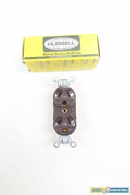 Hubbell HBL5302 Straight Blade Duplex Receptacle 277v-ac 15a 3w 2p