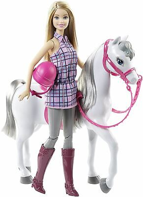 Barbie Doll & Horse With Riding Outfit & Reins