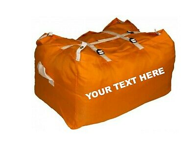 10 x PRINTED ORANGE ULTRA STRONG LAUNDRY HAMPERS COMMERCIAL GRADE SPECIAL OFFER