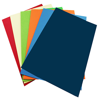 10 x A4 MIXED COLOUR PACK Of Vinyl Transfer Iron On Sheets- For Fabric