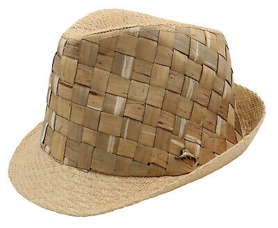 online retailer 255f0 014d6 Tommy Bahama Mens Straw Weave Raffia Fedora Hat, New without tag (Natural, M