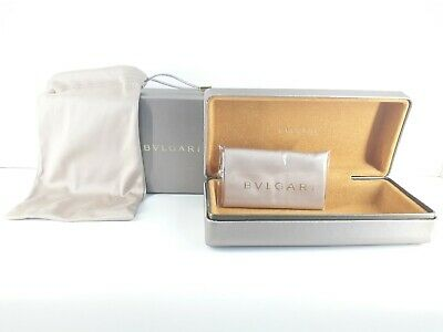 Large bvlgari gold hard case with matching microfibre bag and cleaning cloth
