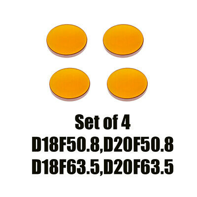 Set of 4 ZnSe Focal Lens Dia. 20 &18mm for CO2 Laser Cutting Machine