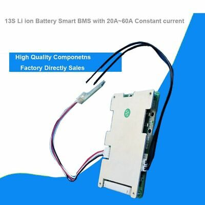 13S 48V li ion Smart Bluetooth BMS with 20 to 60A constant current 54.6V Softwa
