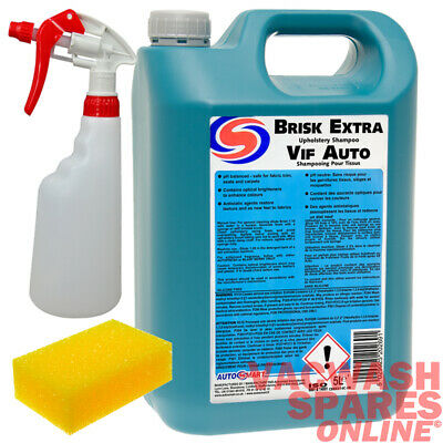 Autosmart Brisk Extra 5 Litre - Upholstery Cleaner -Trade - Manual & Machine Use