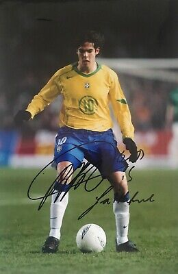 Kaka Brazil Brasil signed message 12x8 photo E UACC AFTAL Registered dealer COA