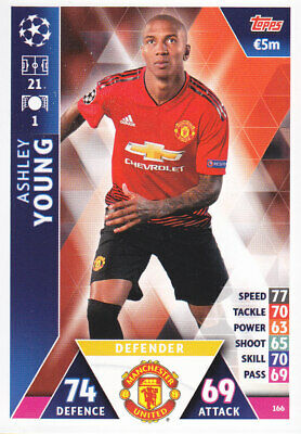 TOPPS MATCH ATTAX CL 2018-19 - Ashley Young - Manchester United - # 166