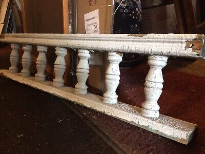 "Great Old Victorian Porch White spindle baluster 41"" x 9"" Architectural Salvage"