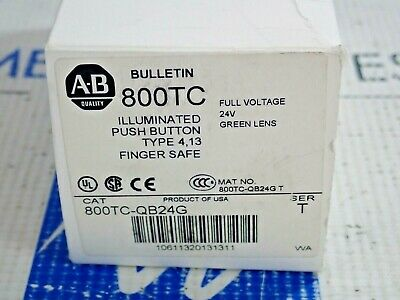 Allen Bradley 800Tc-Qb24G Ser T Illuminated Pushbutton Green