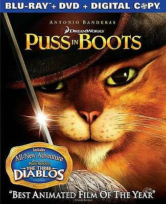 Puss in Boots NEW SEALED Blu-ray & DVD 2-Disc Set Antonio Banderas