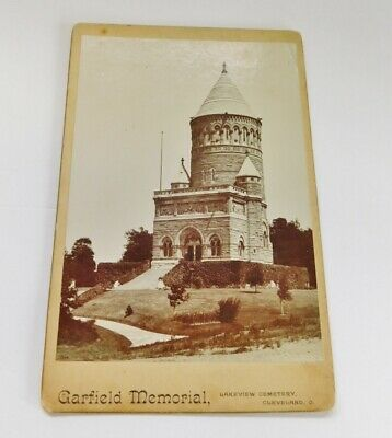 Antique Photo Garfield Memorial Lakeview Cemetery Cleveland OH Cabinet Card CDV