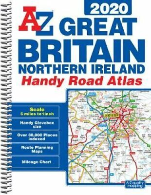 Great Britain Handy Road Atlas 2020 (A5 Spiral) 9781782572701   Brand New