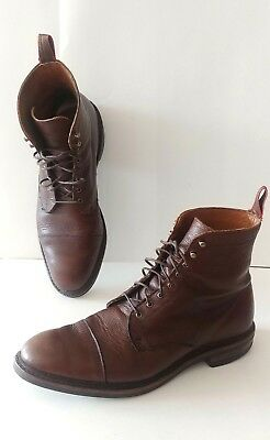 Beautiful Men's Allen Edmonds First Avenue Pebbled Brown Leather Boots Size 10D