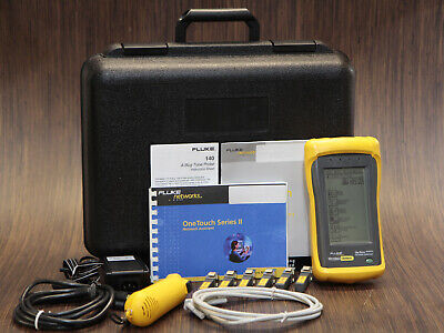 Fluke Onetouch Series Ii Pro Network Assistant Tester Analyzer - Complete Set