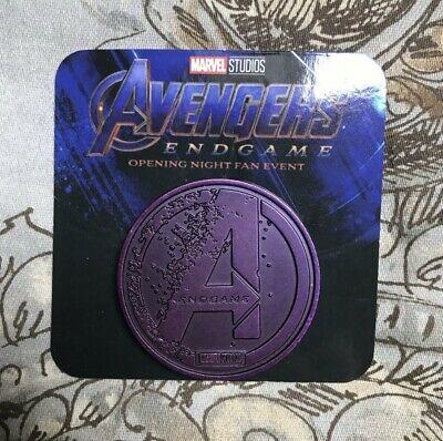 Avengers Endgame Opening Night Fan Event Collectors Coin RARE