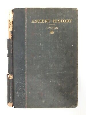 Ancient History Myers Antique 1904 Book Map Illustrated Greek Old Textbook 1900s