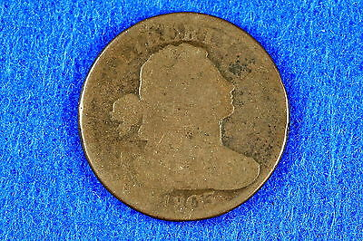 Estate  Find 1805  -  S-260  Draped Bust Large Cent!! #F9159