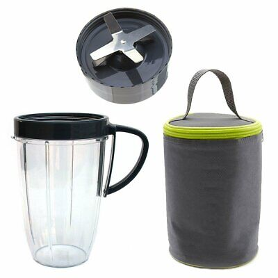 Extractor Blade 600W 900W, 24oz Tall Cup, Blast Off Bag Bundle For NutriBullet