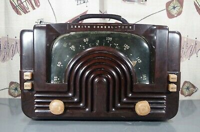 1942 Zenith Model 6-D-615 For Restoration-A Budlong Beauty!  Works! See Video!