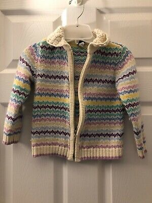 Baby Gap Girls Multi Colored Stripped Sweater Size 4 T. Very Soft and Cute