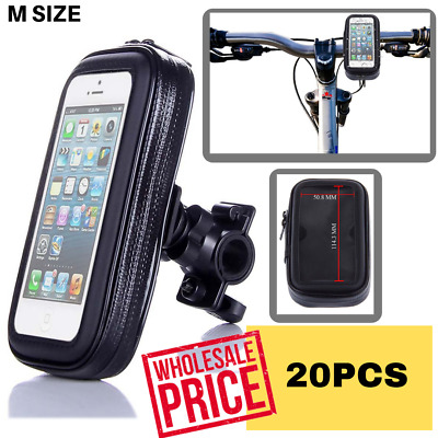 BUNDLE 20 X M Size Bike Bicycle Handlebar Mount Holder Waterproof Bag Pouch