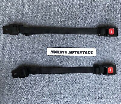2 BRUNO Docking Device BUCKLES with ADJUSTABLE STRAPS for Curbsider Lifts.