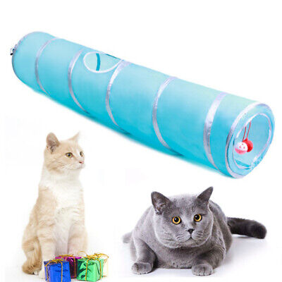 Pet Cat Tunnel Toys Outdoor Game Leopard Long Play Tunnel Kitten Rabbit Toys sh