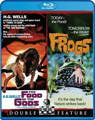 THE FOOD OF THE GODS + FROGS New Blu-ray Double Feature Bert I Gordon H G Wells