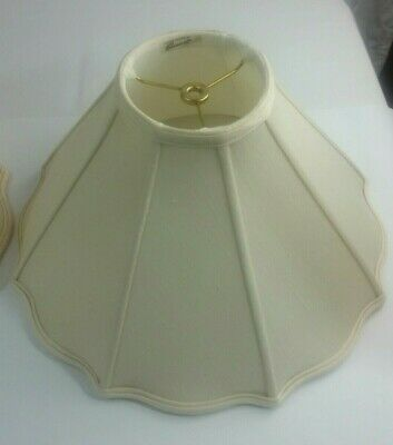 2 ROSEART Double Lined  Linen Lampshade White